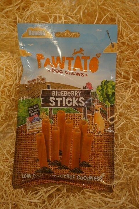Vegetarian, Vegan & Gluten free Dog treats Pawtato Blueberry sticks